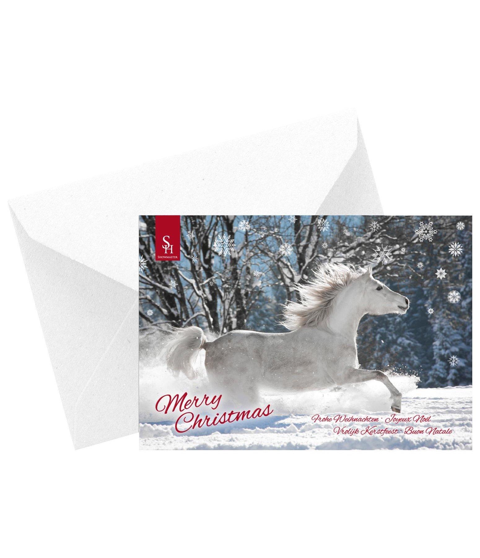 Grußkarte Merry Christmas - Geschenkartikel - Krämer Pferdesport ...