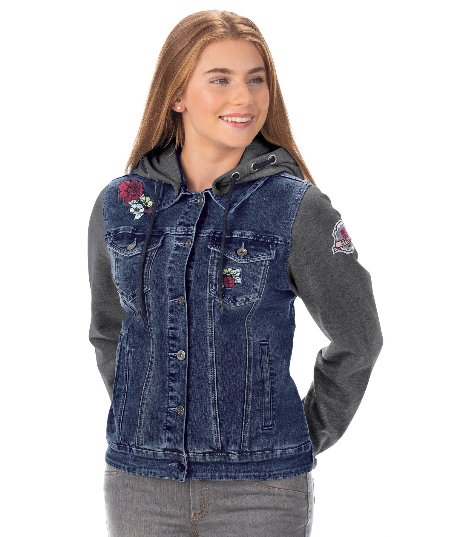 Kinder-Jeans-Sweatjacke Katniss